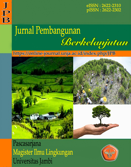 View Vol. 4 No. 1 (2021): Jurnal Pembangunan Berkelanjutan