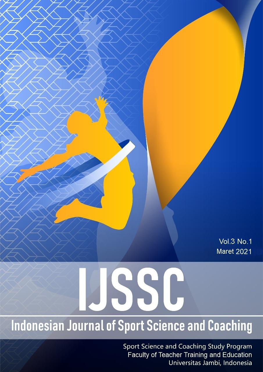 View Vol. 3 No. 1 (2021): Indonesian Journal of Sport Science and Coaching