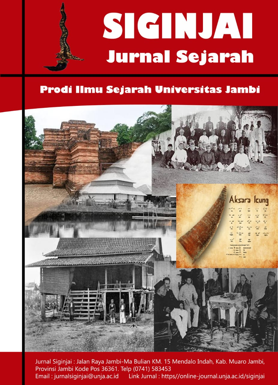 View Vol. 1 No. 1 (2021): Jurnal Siginjai (Jurnal Sejarah)