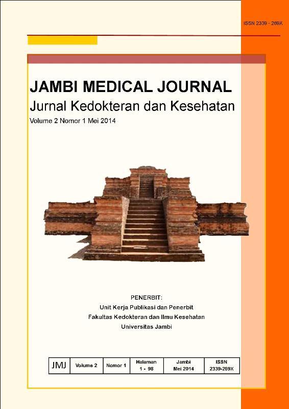 View Vol. 2 No. 1 (2014): JAMBI MEDICAL JOURNAL Jurnal Kedokteran dan Kesehatan