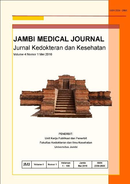 View Vol. 4 No. 1 (2016): JAMBI MEDICAL JOURNAL Jurnal Kedokteran dan Kesehatan