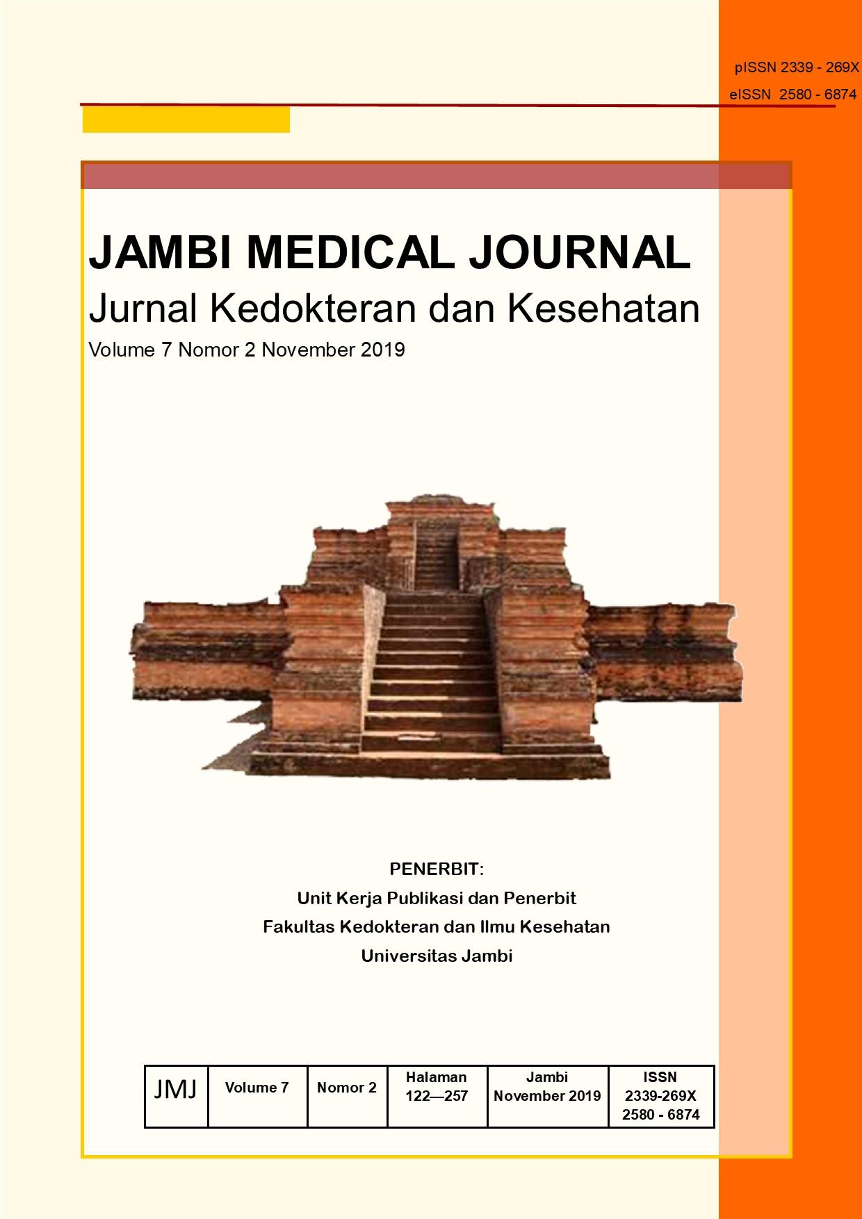 View Vol. 7 No. 2 (2019): JAMBI MEDICAL JOURNAL Jurnal Kedokteran Dan Kesehatan