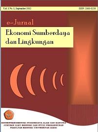 View Vol. 7 No. 1 (2018): e-Jurnal  Ekonomi Sumberdaya dan Lingkungan