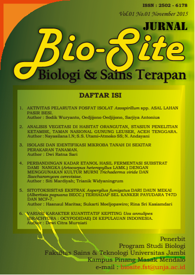Jurnal Bio-Site Cover