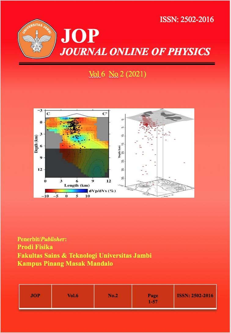 View Vol. 6 No. 2 (2021): Jurnal Fisika Vol 6 No 2