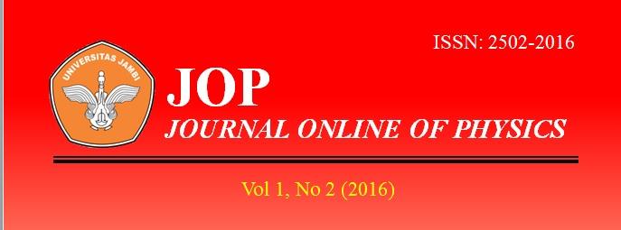 View Vol. 1 No. 2 (2016): Jurnal Fisika Vol 1 No 2