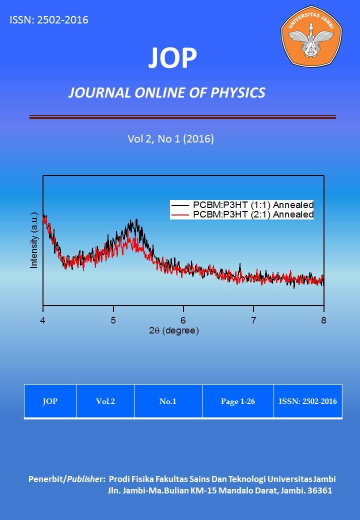 View Vol. 2 No. 1 (2016): Jurnal Fisika Vol 2 No 1