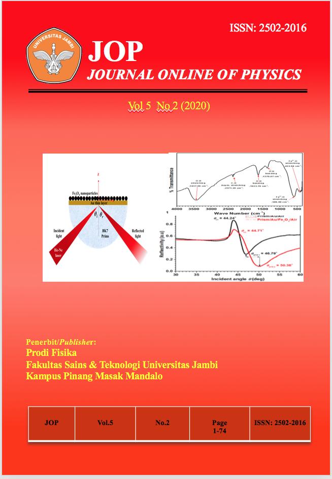 View Vol. 5 No. 2 (2020): Jurnal Fisika Vol 5 No 2