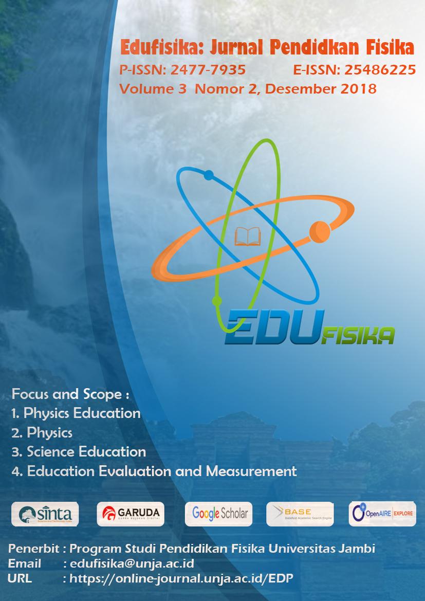 Deskripsi Motivasi Belajar Fisika Siswa Kelas X Mia Di Sman 9 Kota Jambi Edufisika Jurnal Pendidikan Fisika