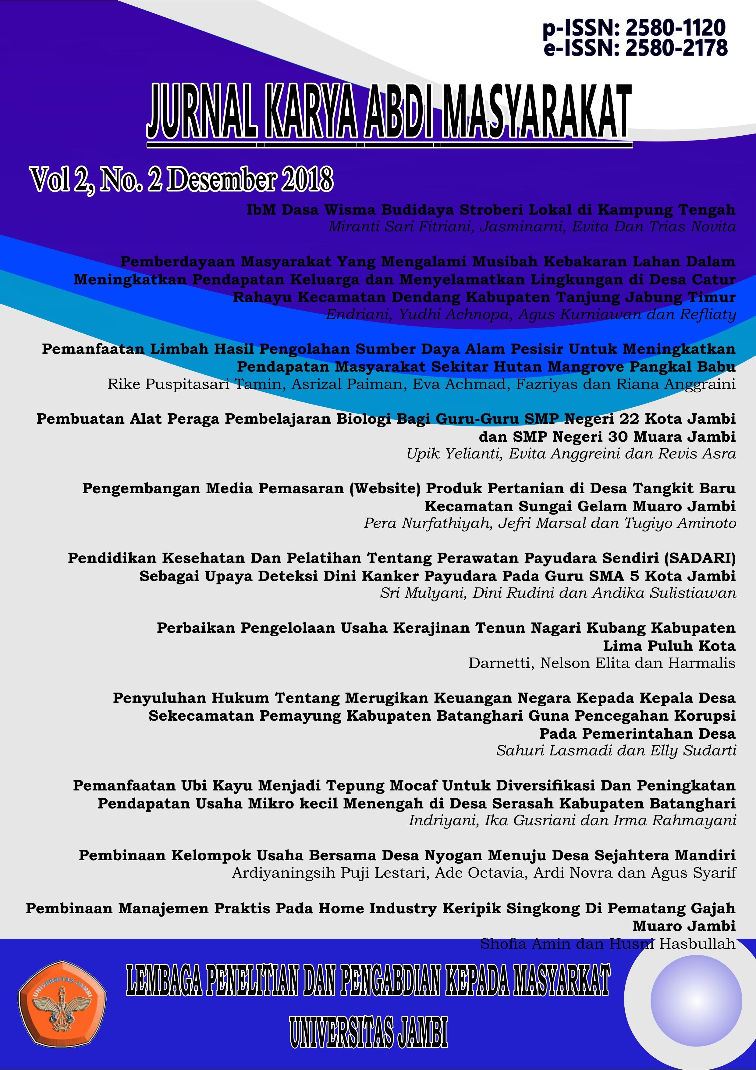View Vol. 2 No. 2 (2018): Volume 2, No (Issue) 2, Desember 2018