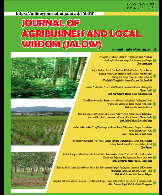 Hubungan Perilaku Petani Dengan Produktivitas Jeruk Siam Di Kecamatan Bukit Kerman Kabupaten Kerinci Jalow Journal Of Agribusiness And Local Wisdom